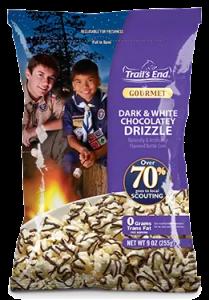Dark and White Chocolatey Drizzle
