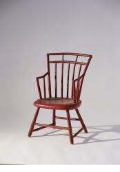 Childs Red Bamboo Windsor Armchair oblique LOW RES
