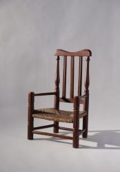QUEEN ANNE MAPLE RUSH SEAT ARMCHAIR-OBLIQUE 900