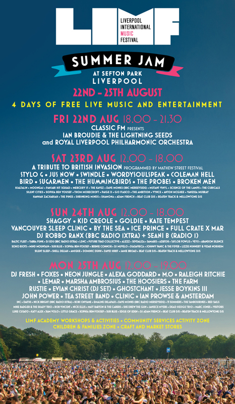 LIMF 2014: Summer Jam | Sefton Park | 23-25 August