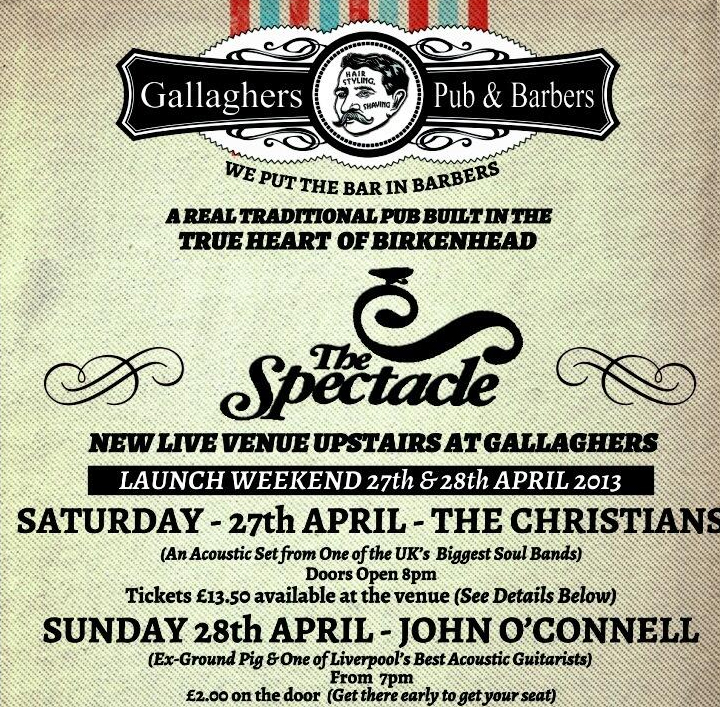NEW OPENING: The Spectacle at Gallaghers Pub, Birkenhead