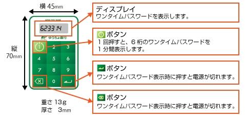 ゆうちょ銀行のトークン生成機-@livett1