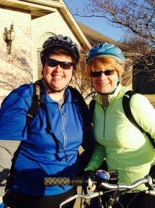 Deb Whitson, left, with her friend Deb Kerley, preparing for a ride on the Centennial Bike Trail in Springfield