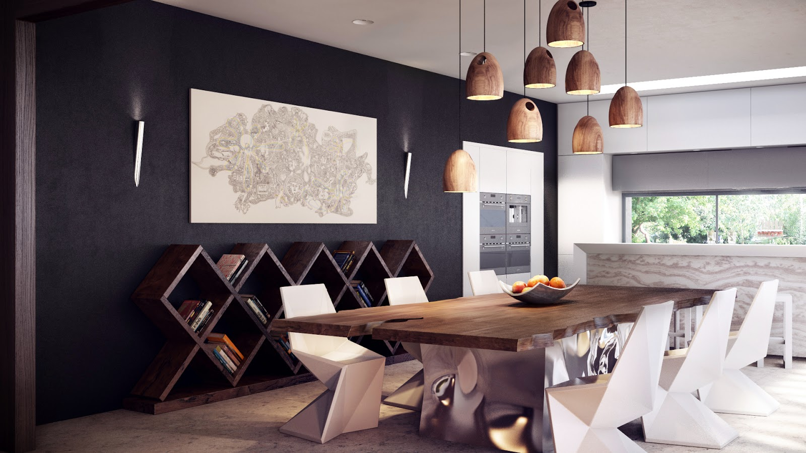 modern dining table set modern kitchen table chairs standout furniture creates sleek lines in this modern dining area