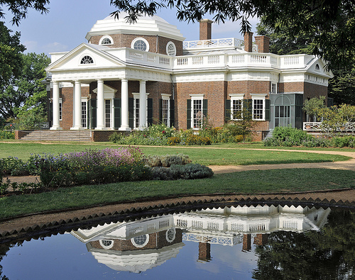 This is the Monticello, Thomas Jefferson's self sufficient plantation.  Source: Tony Fischer Photography on Flickr