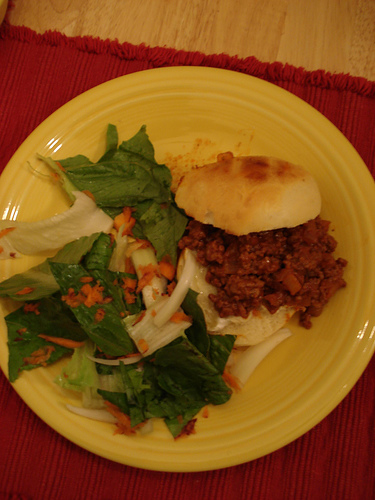 The joy of simple recipes; the sloppy joe is one of my favorite minimalist dishes!