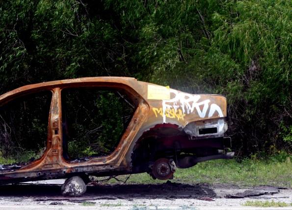 burnt car photo
