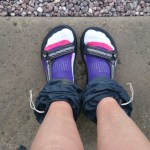 The new get up - sandals and socks - well I am in the UK!