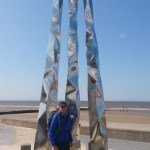 Rod at the finishing monument at Prestatyn