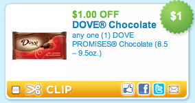 NEW Dove Chocolate Coupon!