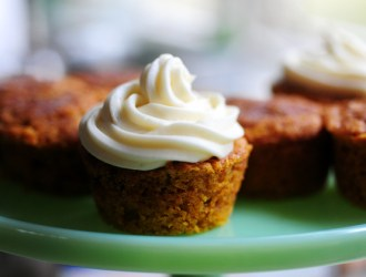 YUMMY! Pumpkin Muffins with Cream Cheese Frosting…Super Moist!