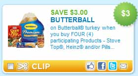 *HOT* $3/1 Butterball Turkey Coupon!!! Hurry and print!