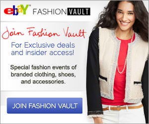 NEW Fashion Vault by eBay!!! Sign up now and save on clothing, shoes and accessories!