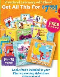 Score 2 Elmo Storybook Learning Sets PLUS get a FREE Elmo Backpack and FREE shipping!!!