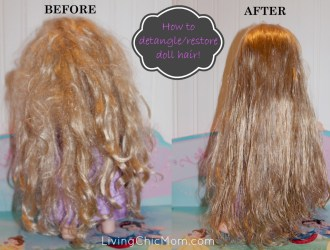 Is your Rapunzle TANGLED?!?! How to detangle/restore a dolls hair!