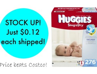 STOCK UP! Amazon has Huggies Diapers for as low as just $0.12 each!