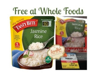 FREE Tasty Bites All Natural Jasmine Rice at Whole Foods!