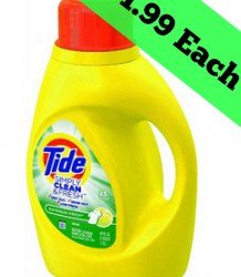 Tide Laundry Detergent just $1.99 each at Walgreens (Print FAST)