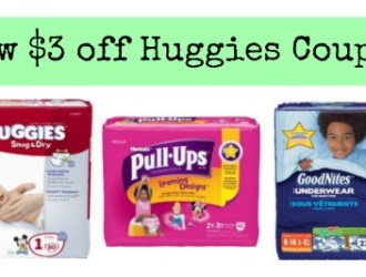 New $3 off Huggies Diapers coupon! PRINT NOW (plus several deal scenarios for diapers as low as $2.24 a pack!)