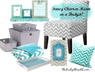 Design a Fancy Chevron Room on Budget!