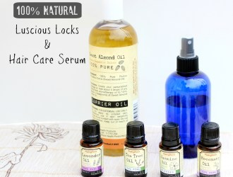 100% Natural Luscious Locks and Healthy Hair Serum Recipe