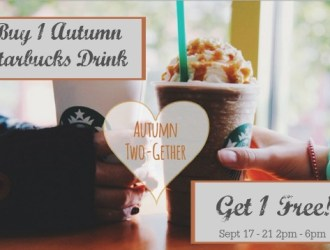 Starbucks Buy 1 Autumn Drink, Get 1 FREE