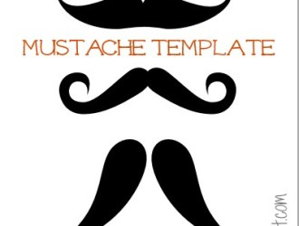 Printable Mustache Pumpkin Carving Template