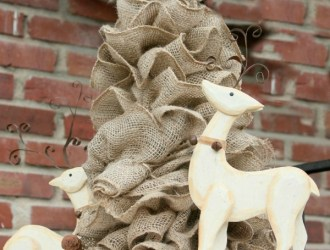DIY Burlap Garland Tree (Make in 10 minutes or less for $10 or less)