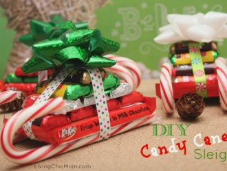 DIY Homemade Candy Cane Sleighs