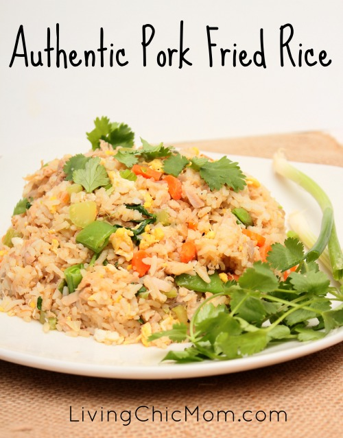 Authentic pork fried rice recipe living chic mom authentic pork fried rice we are a mixed family my husband is korean and i am white as a mixed family we have found that we enjoy authentic foods much ccuart Gallery