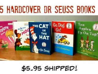 Score 5 Hard cover Dr Seuss classics for just $5.95 shipped!!!