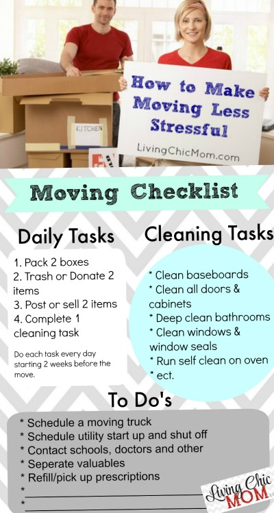 How To Make Moving Less Stressful + Printable Moving Checklist
