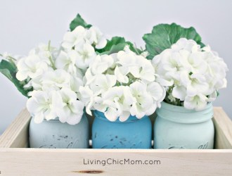 DIY Chalk Jar Centerpiece