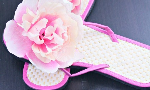 DIY Fancy Flower Sandals (for less than $2)