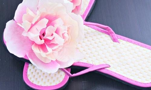 DIY Fancy Flower Sandals (for less than $2)