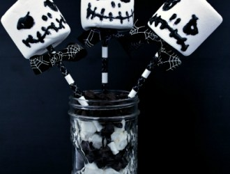 Jack Skellington Marshmallow Treats (from Nightmare Before Christmas)