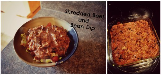 Cover Shredded Beef and Bean Dip