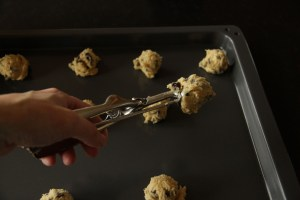 Chocolate Chip Cookie dough cookie scoop