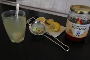 Finished lemon honey drink