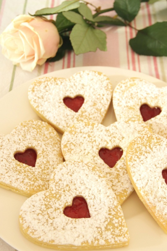 Big Linzer Hearts - Austrian shortbread cookies filled with jam