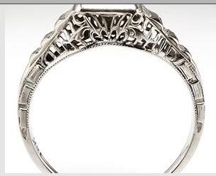 Vintage rings often have exquisite handwork