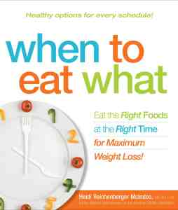 Book cover when to eat what heidi mcindoo