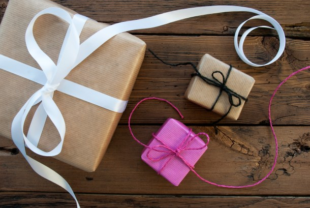 Three Gifts With Ribbon