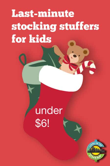 Cool ideas! Lots of last-minute stocking stuffer ideas for kids. Under $6! Shop for Christmas without spending a bundle on the little things.