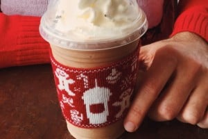 Starbucks: Get free ugly sweater beverage cozy