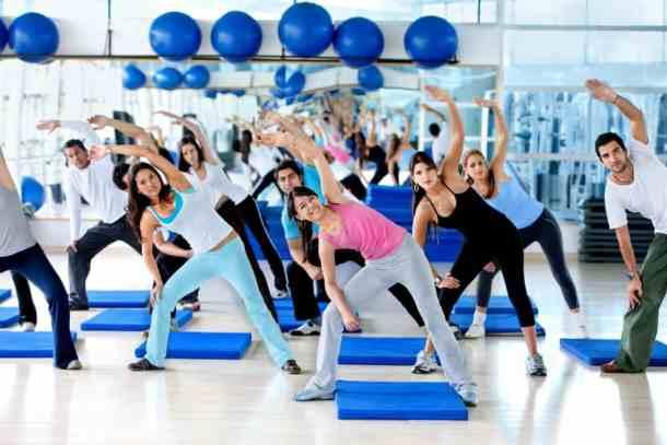 gym fitness class aerobics