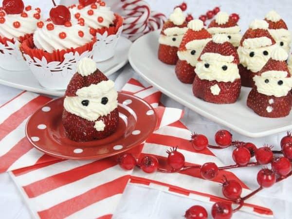 strawberry-santas-with-cupcakes