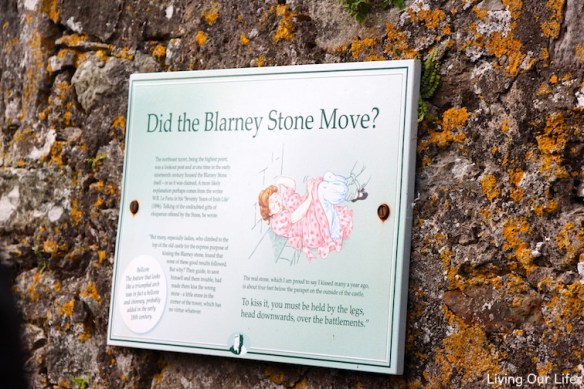 Signs along the path to the stone.