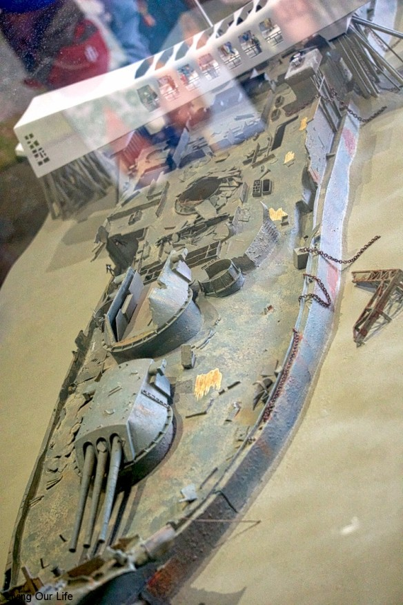 Model of the Arizona in the museum