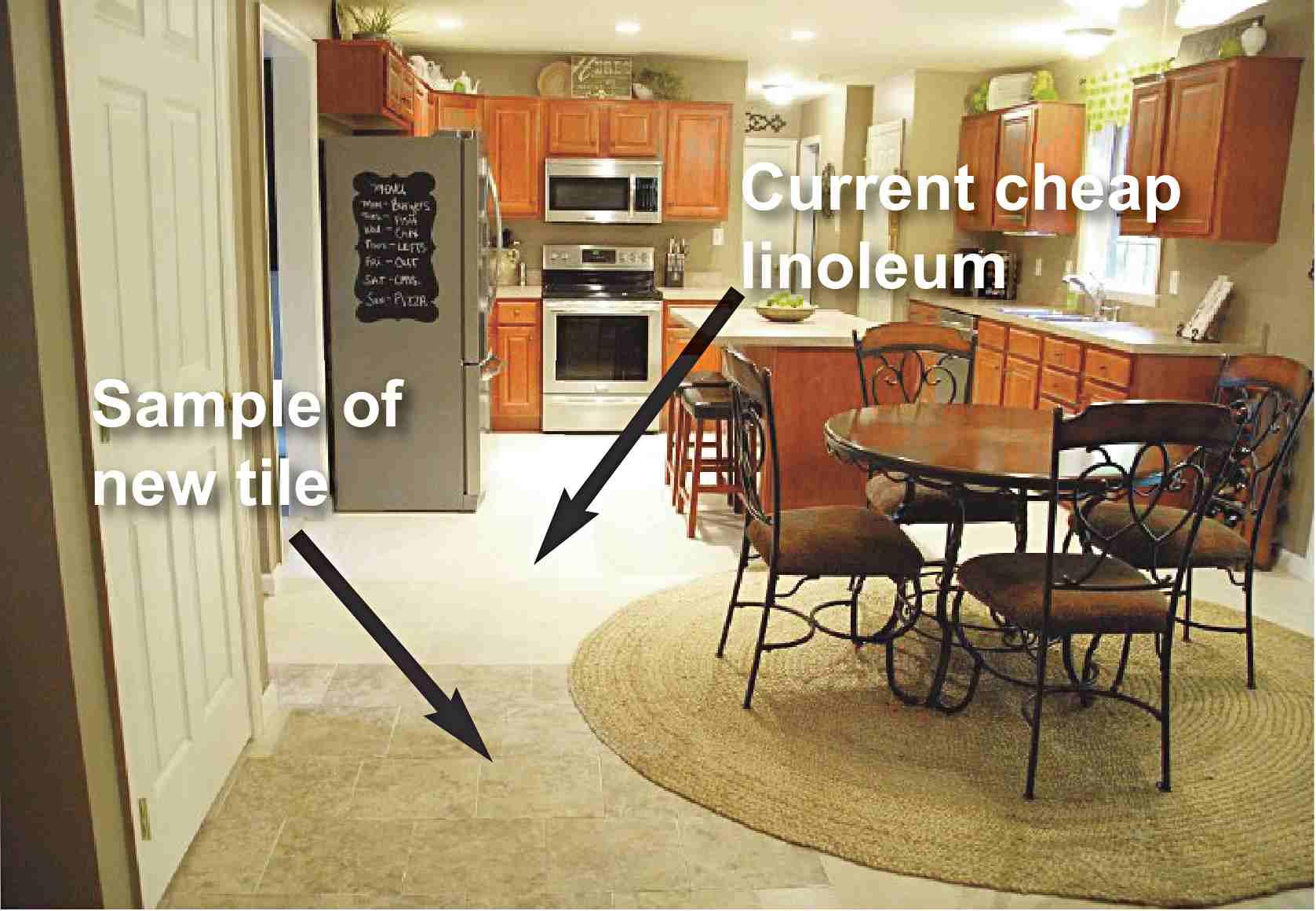 groutable vinyl tile vinyl kitchen flooring We can slap the flooring